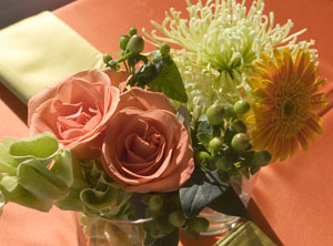 Event at Avon Perennial Gardens - Florals designed by Royal Creations